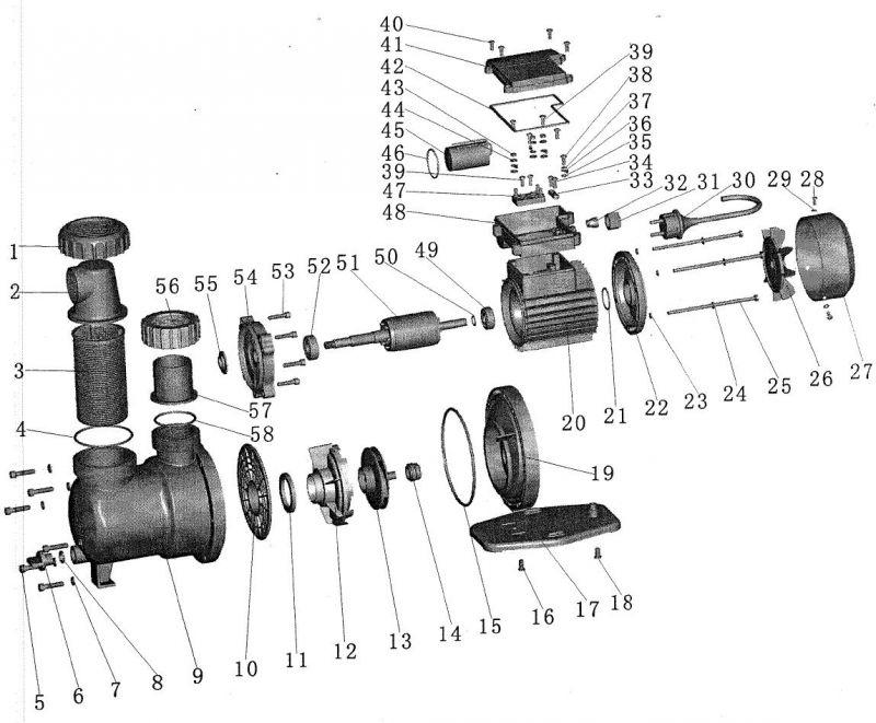 Aquastar 5 7 pumpe ersatzteile nr 26 l fterrad 14 94 for Poolfolien hersteller