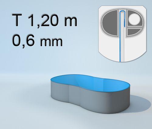 Pool innenh lle zweist nder knochenbecken t 120cm 0 6 m for Hersteller poolfolien