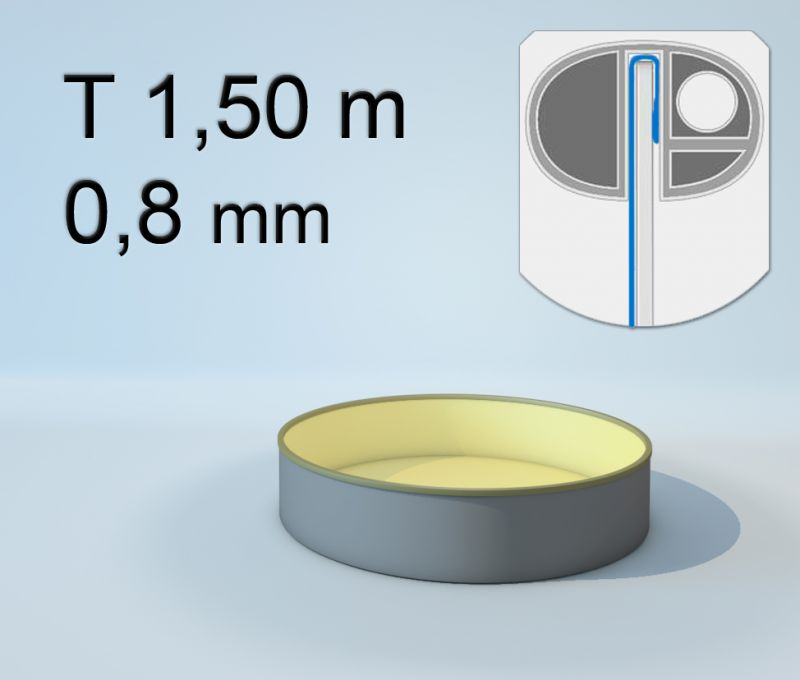 Poolfolie rund t 150cm 0 8 mm sand 398 00 for Poolfolien hersteller
