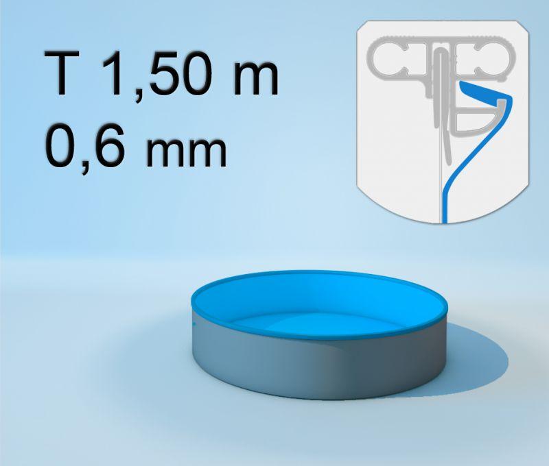 Schwimmbecken innenh lle rund keilbiese 150 cm x 0 6 for Poolfolien hersteller
