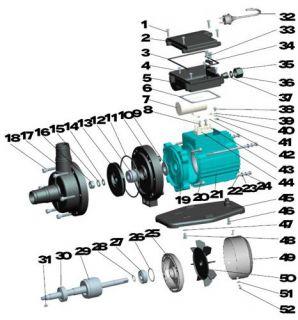 Aquastar 4 pumpe ersatzteile nr 17 pumpengeh use 59 for Hersteller poolfolien